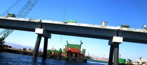 جسور ميناء الغاز المسال الجديد في العقبة